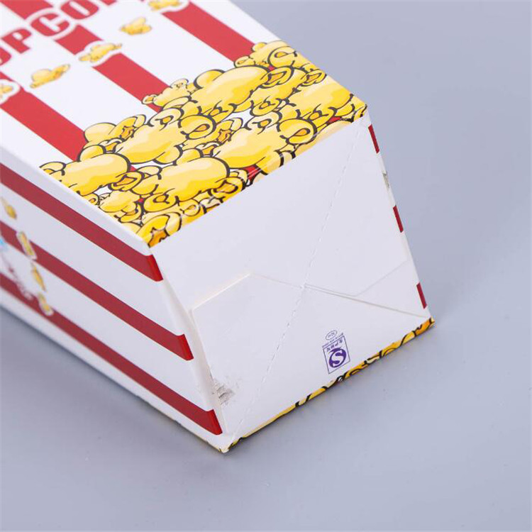 Cheap popcorn packaging box with logo