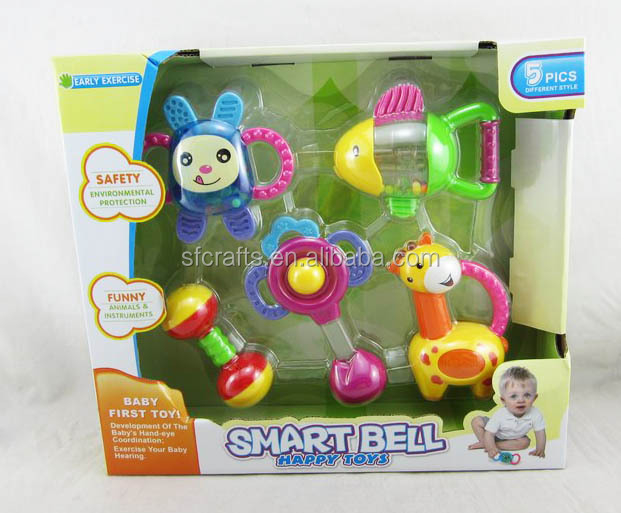 baby rattle,baby toys set,plastic baby bell toys for kids