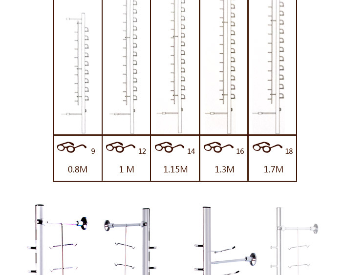 [YUCHENG]wall mount eyeglass display rods Y019