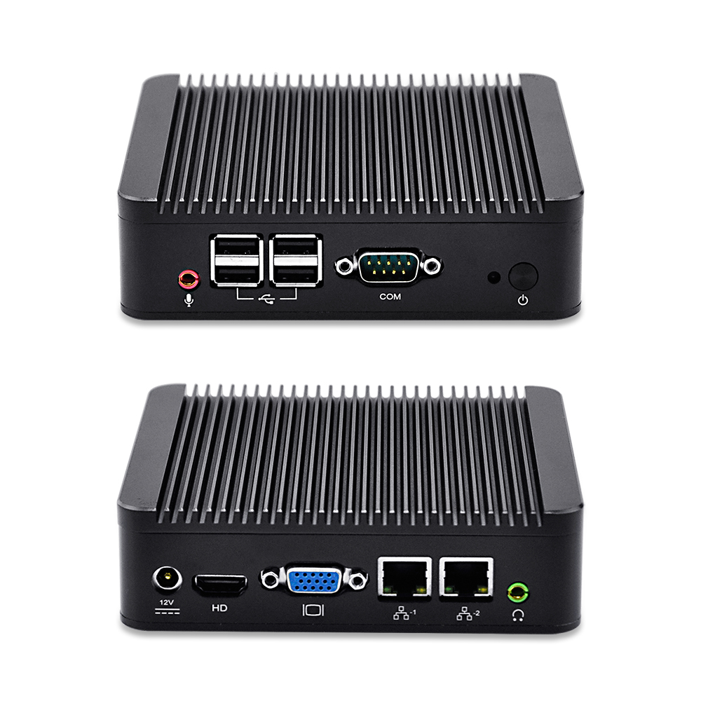 Qotom-Q210S-S01 2 Lan Port Core i3-3227U Processor Aluminum Alloy i3 Barebone Mini Pc