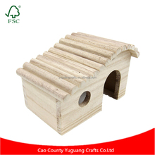 Wooden Hideout Hut for Small Animals like Dwarf Hamster and Mouse