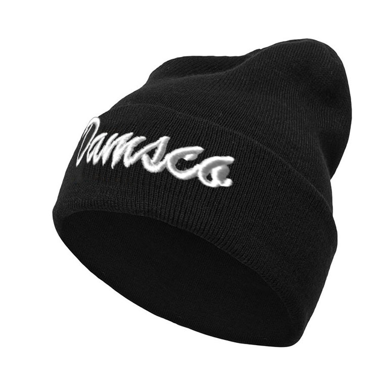 Black <strong>Beanies</strong> with Custom Your Design Logo Black Knitted <strong>Beanies</strong> with <strong>embroidery</strong> logo