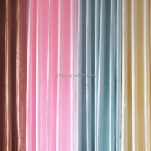Bright color polyester upholstery satin window valance fabric