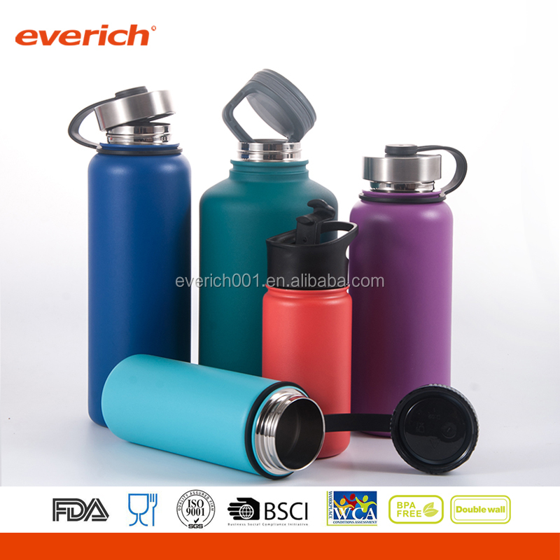Everich Wide Mouth 18 8 Vacuum Stainless Steel Copper Water Bottle