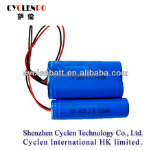 intrinsically safe battery li-ion battery 3.7v cell 18650-2200mah use for laptop, torch, led flashlight,