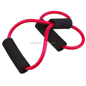 Home Fitness Elastic High Quality 8 Shape Resistance Tube Band