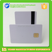 Stock PVC 2 track hi-co SLE4428 big chip smart card