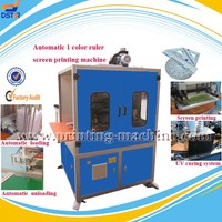 DX-SPR1 automatic and high speed 1 color plastic ruler UV screen printing machine