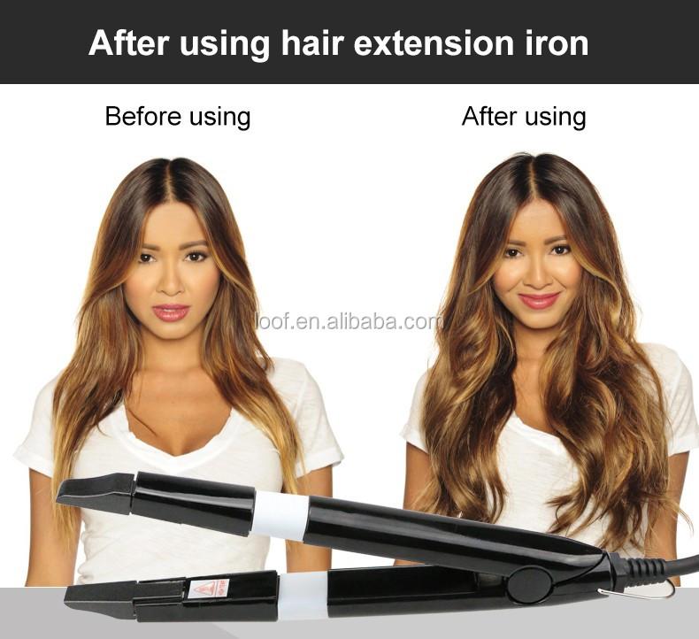 Loof Hair Connectors Oem Private Logo Custom Package Hair Extension