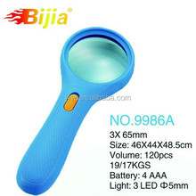 BIJIA 9986A handheld small magnifying glass led light