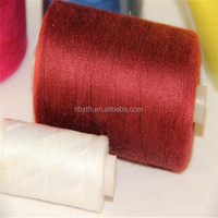100pct polyester yarn raw white plastic dye tube for Sewing