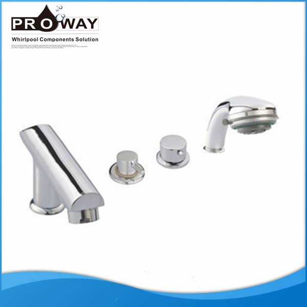 4 Hole Bathub Faucet With Shower Faucet Parts Bath Mixer Tub Shower Faucet Co