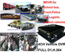 Mobile CCTV 4 Cameras Record in real time at high resolution D1 quality Vehicle Security DVR Recorder