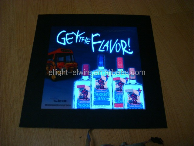 Electroluminescent poster/electroluminescent animated poster/electroluminescent el displays posters