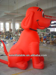 red inflatable puppy