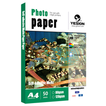 Waterproof High glossy 135gsm A4 Self Adhesive inkjet photo paper for inkjet printers