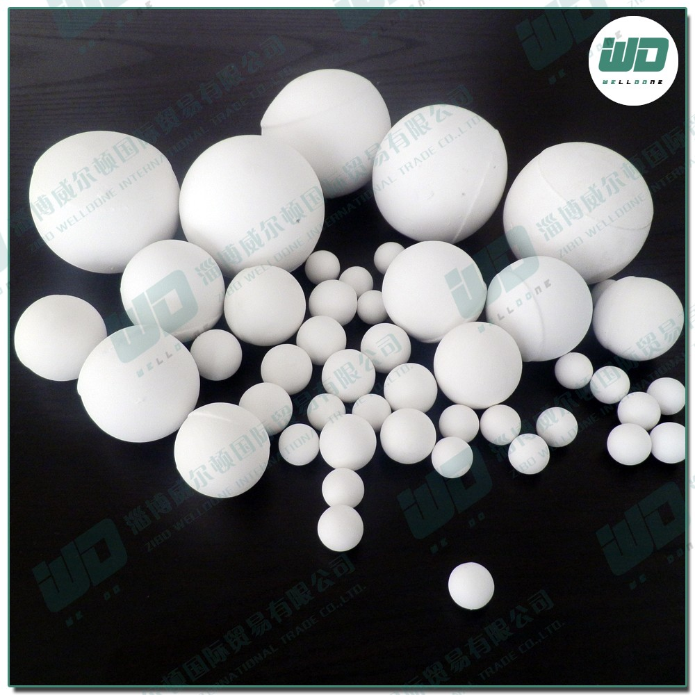 Low price 99% alumina beads,high pressure and strong corrosive working environment of petrochemical industry