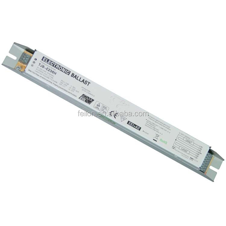 factory price T8 electronic ballasts t8 2x36 fluorescent lamp ballast 220-240V