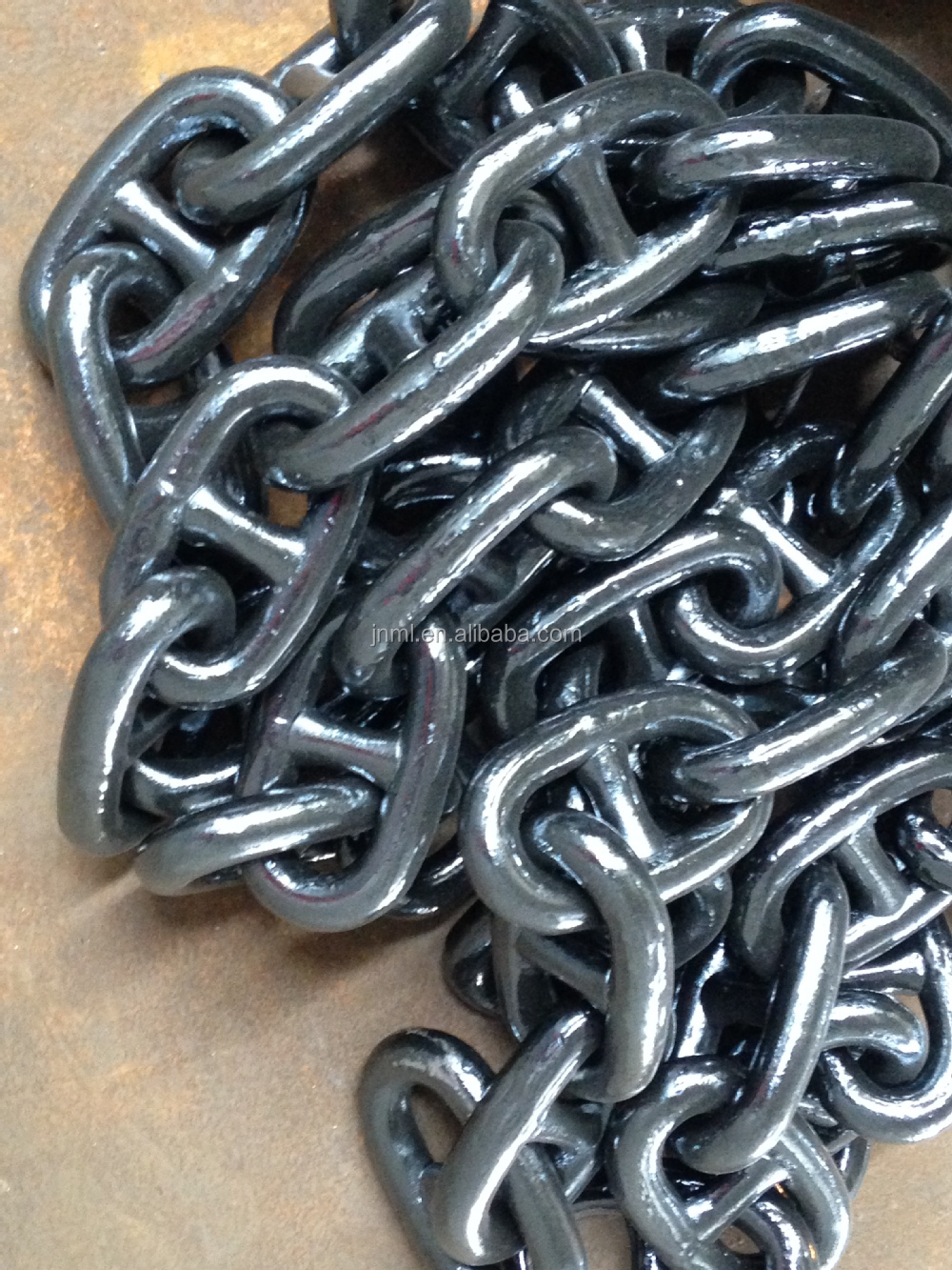 68mm 2-11/16 inch grade U2 galvanized chain ship steel welded chain stud link marine mooring anchor chain