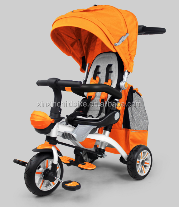 2016 New Aluminum alloy frame Children tricycle kids trike baby tricycle with PU free wheels