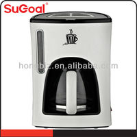 2014 Sugoal home appliances coloured coffee maker with carafe machine