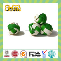 Hot selling mint& cheese flavor Woven Ball shaped low protein dog treats