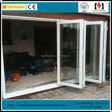Sound-proof and energy conservation insulated double panel safety glass aluminum sliding door