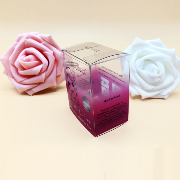 Custom Printed Clear PVC PET Plastic Packaging Box Cosmetic Packing Box