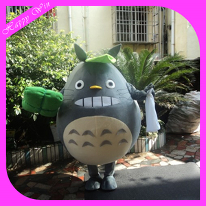 Lovely Japanese chinchillas cartoon mascot,walking Japan Totoro costume for advertising