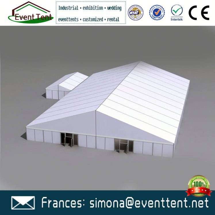 Hot White PVC Tarpaulin Inflatable Tent Tension Structure Marquee warehouse tent for sale