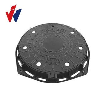 EN124 A15 B125 C250 D400 E600 F900 Round Ductile Cast Iron Manhole Cover