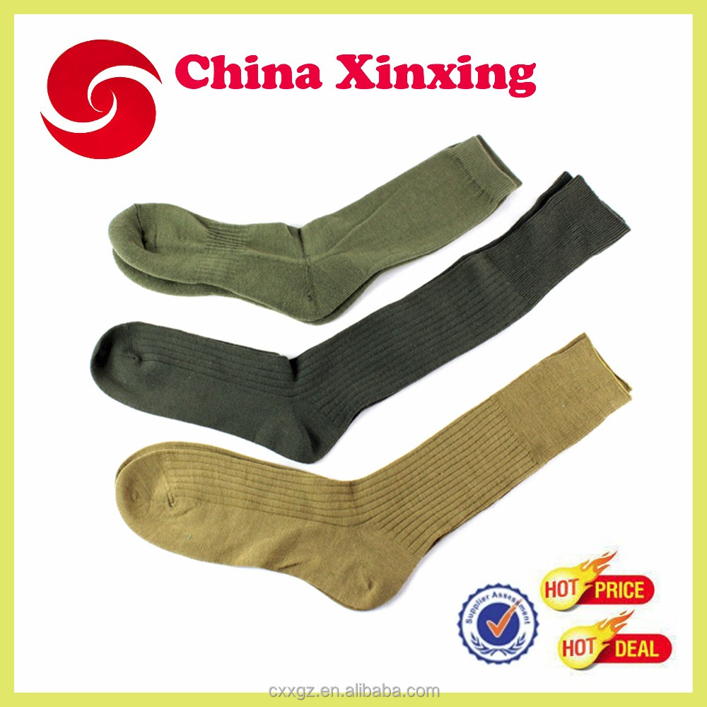 Bulk Military Army Green Cotton Socks wool socks 100 cotton socks