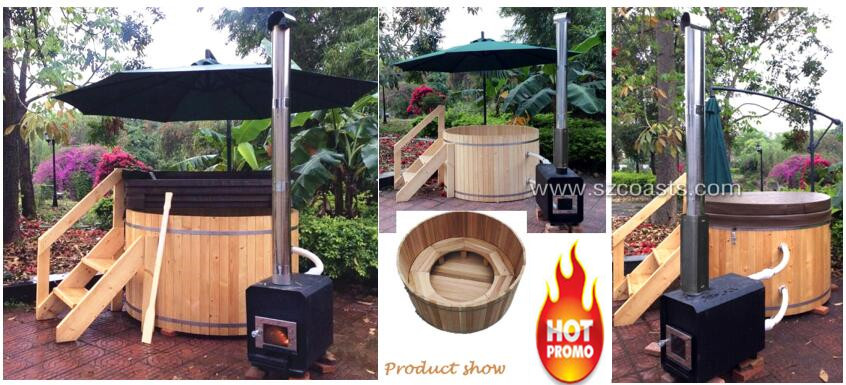 Best seller cedar hot tub wood fired hot tub for health