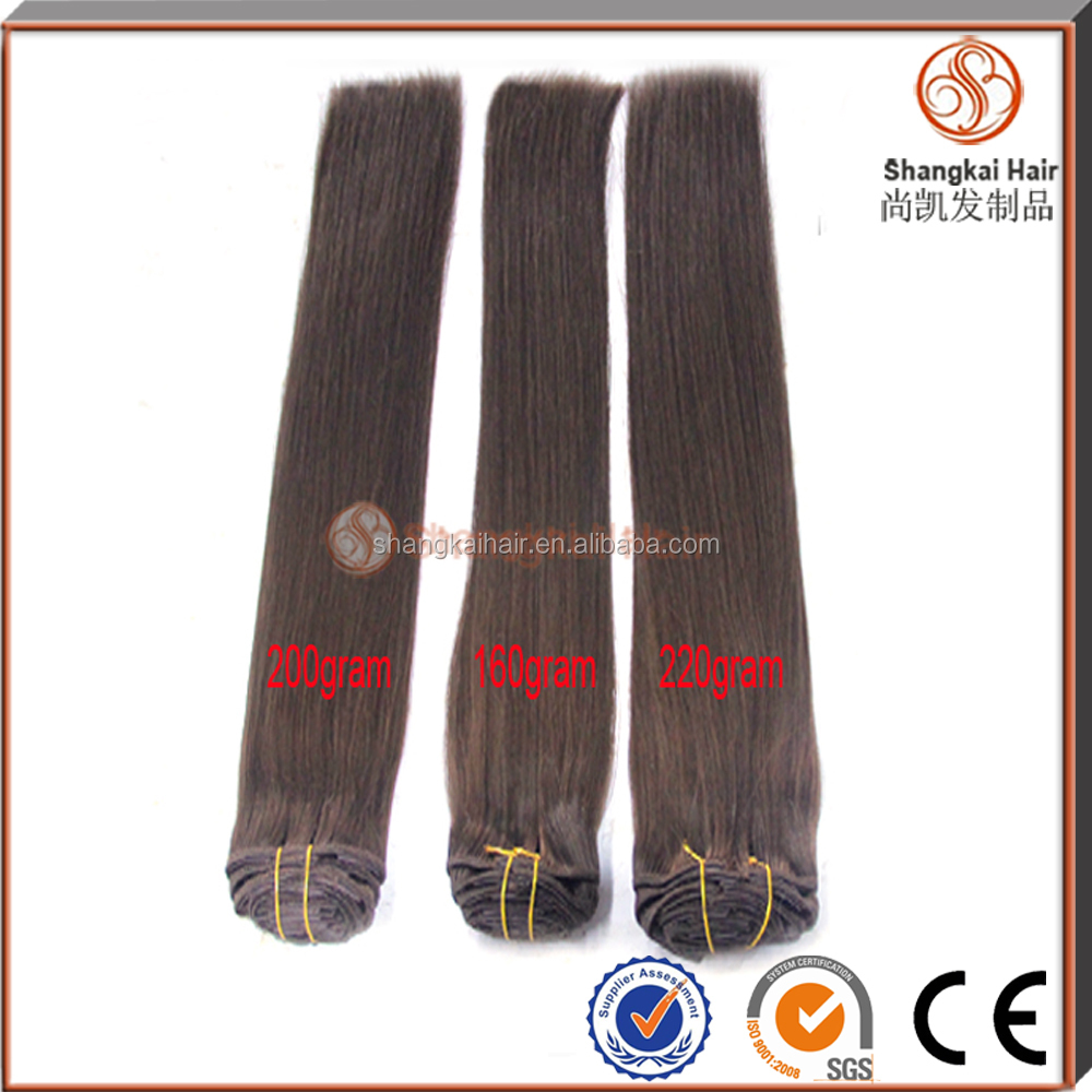 120g / 160g / 220g double drawn clip in hair extensions