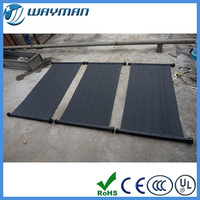black less lose heat plastic solar heating panels for above swimming pool
