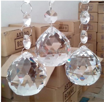 Factory Direct Wholesale Colorful Crystal Chandelier Ball for Lamp Accessories