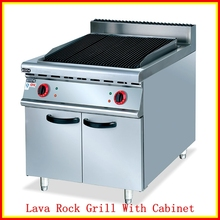 (#700)New Commercial Portable Gas Lava Rock Stainless Steel Grill With Cabinet(OT-849D)