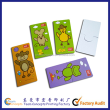 Funny Cartoon Card Baby Puzzle Toys
