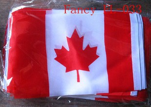New polyester material CA national flag for hand waving