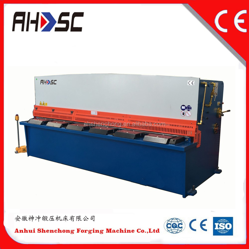 CNC hydraulic shearing machine 8mm plate thickness metal cutting tools manufacturing in china