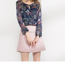 New product western lady special design chiffon cheap blouse