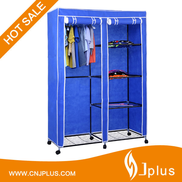 JP-WR125FABW High Quality Portable 4 Layer Fabric Bedroom Wardrobe Closets