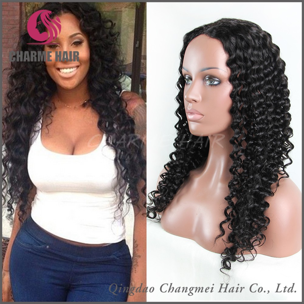 tangle free high quality virgin brazilian kinky curly hair wig in south africa