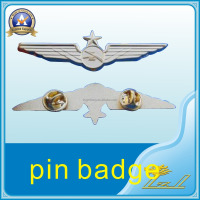 Custom Design Metal Pilot Wings Lapel Pins Pin Badge