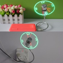 2017 New Flexible mini LED Flash USB Fan with Real time Temperature Display Soft Blades USB Gadgets High Quality