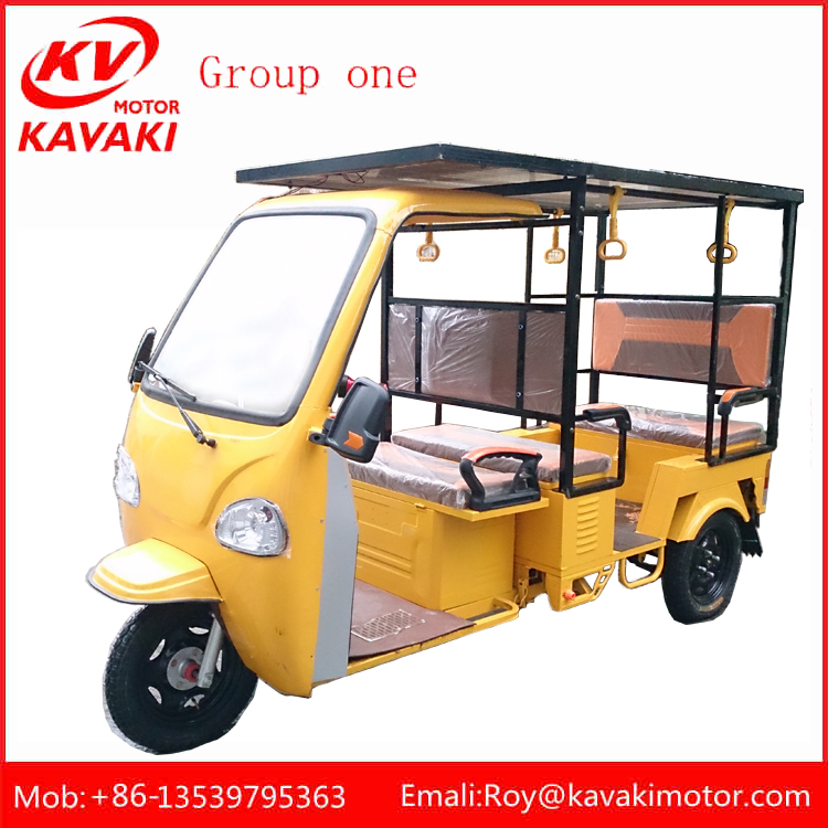 China Factory Hot Selling 5-6 Passengers E Rickshaw For India Taxi, High Quality Electric Tricycle,Bajaj Tuktuk For Kolkata