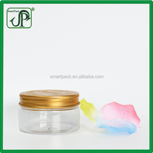 Natural Organic Gold Plastic Lid Cream Mask Butter PET Jar 100g Plastic Jars