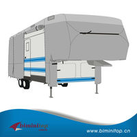 Direct Manufacture 300D PU fabric Universial 5th Wheel RV Cover