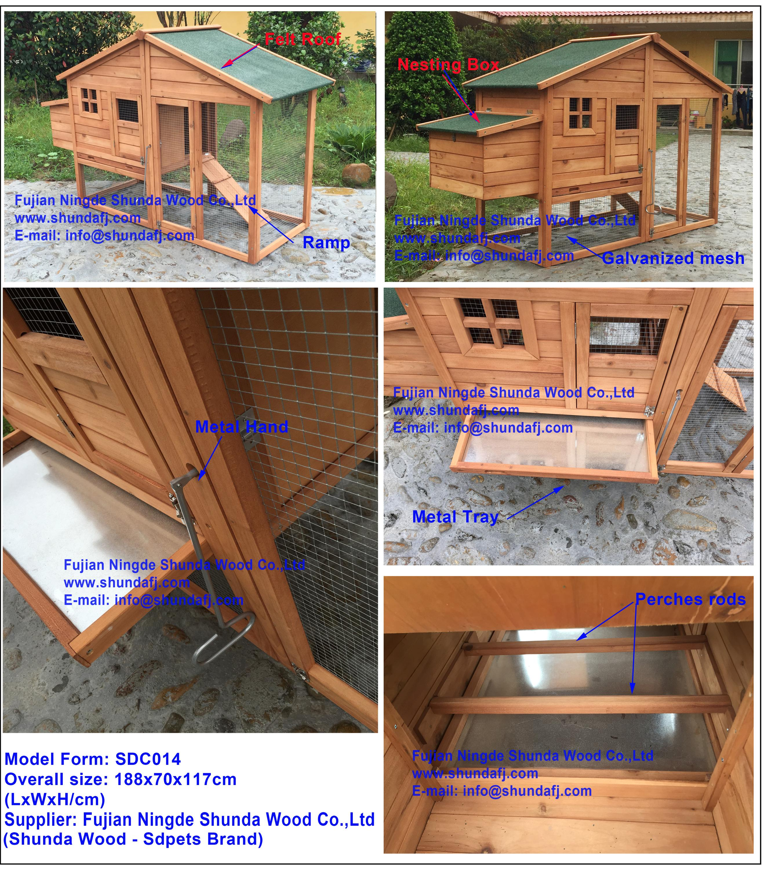 SDC014 outdoor wooden chicken layer cage wholesale price
