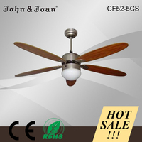 Europe Style Cube Led Light Contemporary Ceiling Fans With Lights